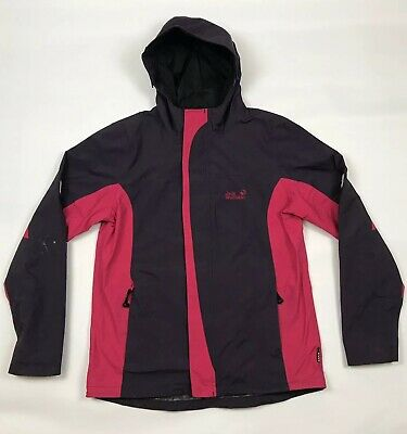 JACK WOLFSKIN Texapore 4x4 Girls Jacket With Hood Purple & Pink 176 Large Youth