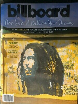 "Billboard Magazine April 25, 2020 -""One Love, A Billion New Streams"" Bob Marley"