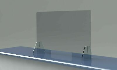 Sneeze Guard 1/8 Acrylic Divider Protection Barrier Shield Checkout Counter Desk