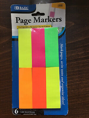 Page Markers Notes, 1 Pack, Neon Colors