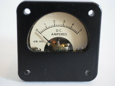 Phaostron  DC Ammeter 618-305   1-3/4 inch panel meter NEW