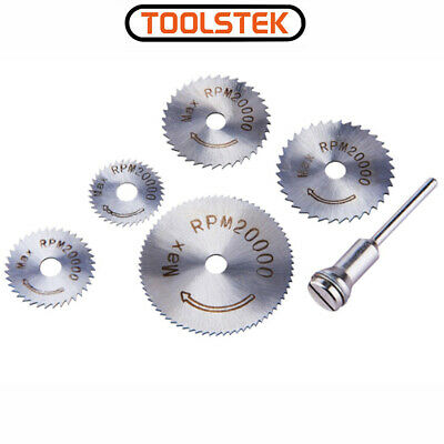 6 Pcs 22-50mm HSS Circular Saw Blade Cutting Discs Set and Mandrel for Drill New