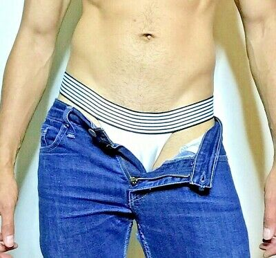 NAUTICAL SWIM LINER Mens Underwear Classic Style Thong in All Sizes