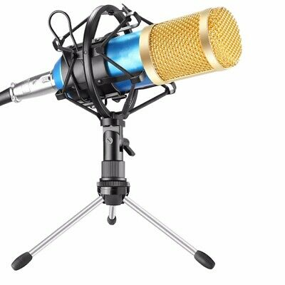 BM 800 Blue Condenser Recording Microphone Kit With Shock Mount and tripod