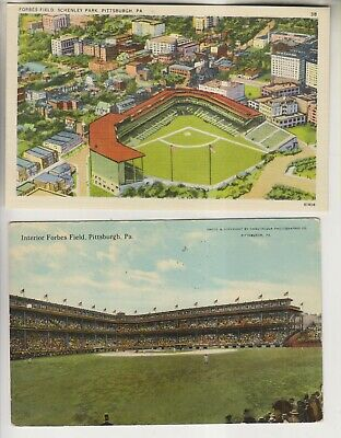 2 Vintage Postcards - Baseball - Forbes Field Pittsburgh Pa - Pirates