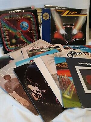Vinyl Rock Records 33 RPM lp Albums Beatles, Dylan Stones, Clapton Disco Etc