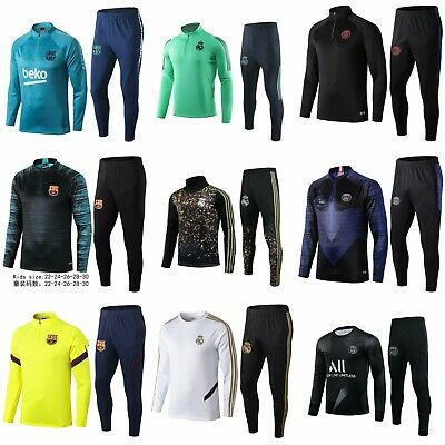 New Kids Boys Soccer Tracksuit Team Football Sportswear Top& Bottoms Outfits