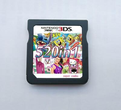 520 in 1 Game Cartridge Multicart For Nintendo NDS NDSL NDSi 2DS 3DS