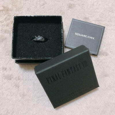 Final Fantasy Ⅷ Official Sleeping Black Silver Ring Lion Heart SQUARE 1999 US6
