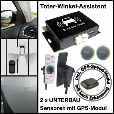 Toter-Winkel-Assistent mit 2 x High Class UNTERBAU Sensoren incl. GPS-Speed-Modu