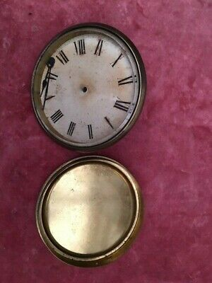 Antique Clock Dial, Hands and back door , spares or repair