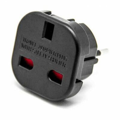 Adaptador Red Enchufe UK Ingles Reino Unido a Europeo UE