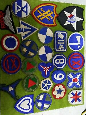 Lot Of 25 Various  U.s. Army Patches. All Colored Patches. Nice Condition (#I)
