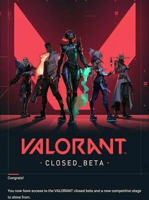 Valorant Closed Beta Key/Account [EU] - INSTANT AUTOMATIC DELIVERY -  Instantané