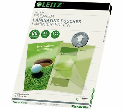 LEITZ iLAM 80 Micron A4 Laminating Pouches - 100 Pack - Currys