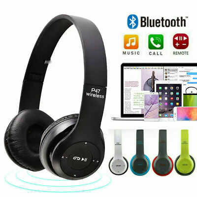 Bluetooth Wireless Headphones Noise Cancelling Over Ear Headset With Microphone