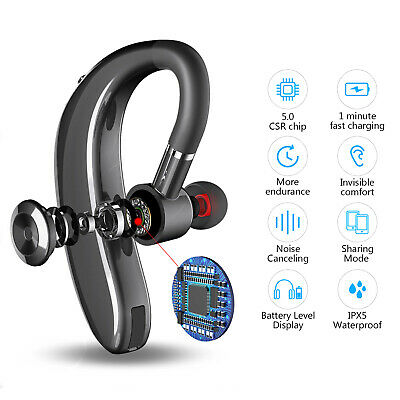 UK Wireless Earphones Bluetooth 5.0 Headset Handsfree Headphones Mini in-Ear