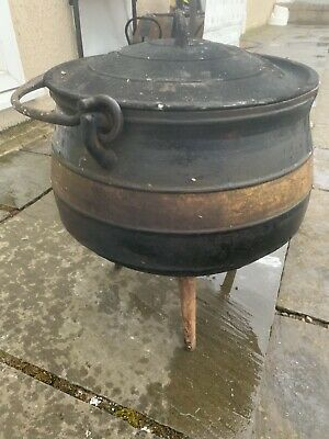 antique Falkirk Cast 6 Gallon Pot