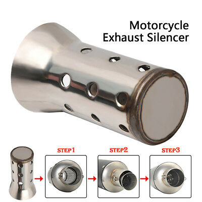 51MM Motorcycle Motorbike Exhaust Muffler Angled Can Insert Baffle Silencer US