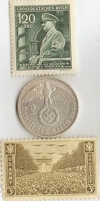- *Tree -  *WW2 -  SILVER  and  STEEL  - *us   and - *german coin / stamps++