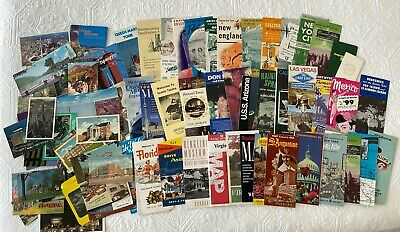 Large Lot Vintage Maps Tourist Destination Brochures Flyers Post Cards