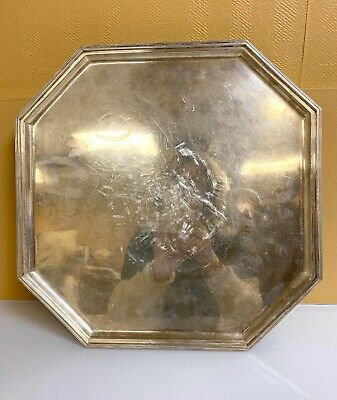 Tiffany & Co. Antique Sterling Silver Footed Tray with Makers Marks