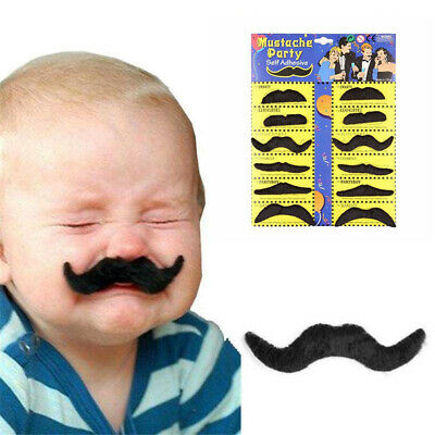 6pcs//lot Costume Party Halloween Fake Mustache Funny Fake Beard Whisker BR