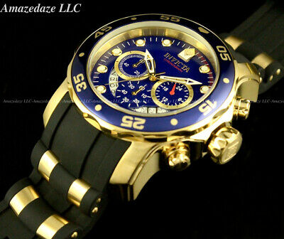 NEW Invicta Mens Scuba Pro Diver Stainless Steel BLUE DIAL Chronograph Watch !!