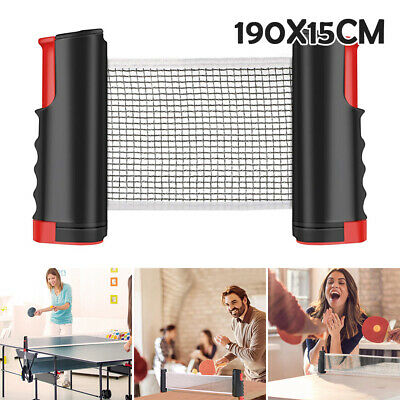 Portable Table Tennis Net and Post Set with Mini Posts Bats Balls Extendable