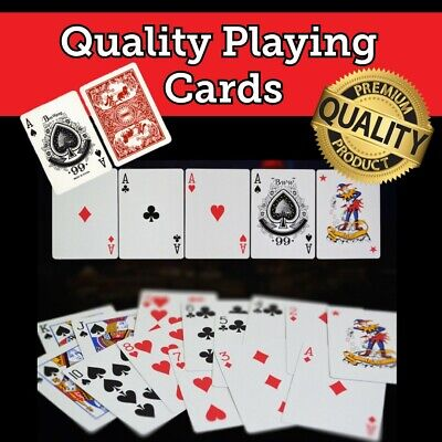 Professional Plastic Coated Playing Cards for Poker Blackjack Snap Casino