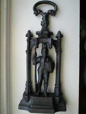Victorian Cast Iron Fine Detailed Medieval Knight  in Armour Door Stop