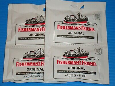 FISHERMAN'S FRIEND -Original Lozenges 80g (4 x 20g in twin packs)-FREEPOST IN UK