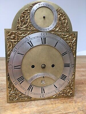 Antique Period London Bracket Clock Dial And Movement
