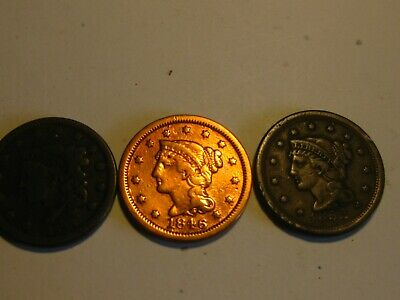 Lot of 3 - Large Cents / Mixed Dates