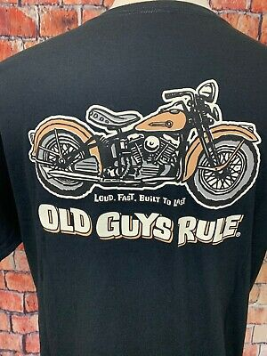 Old Guys Rule King of the Road Motorcycle Pocket Medium Tee Shirt,100/% Cotton
