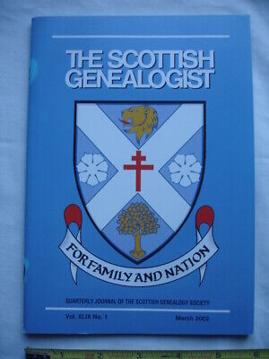 Scottish Genealogist-March 2002-MacLellans-MacKellar-Military-General Assembly