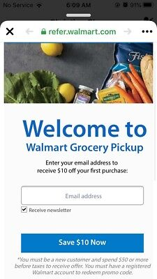 $10 Off Your First Online Walmart Grocery Order NEW CUSTOMERS ONLY