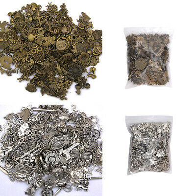 Wholesale 50g Bulk Mixed Silver Charms Pendants for DIY Jewelry Making Craft