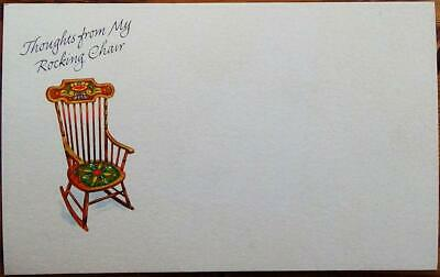 Thoughts from My Rocking Chair Postcard New Unused Colorado Springs, CO