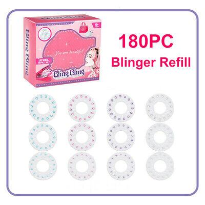 Blinger Studio Diamond Collection Styler Kids Girl Refill Clear Gems Toys