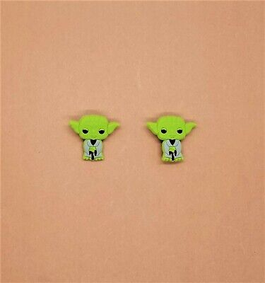 Yoda Shoe Charms Crocs Wristband Shoe Lace Adapter Baby Star Wars Set of 2