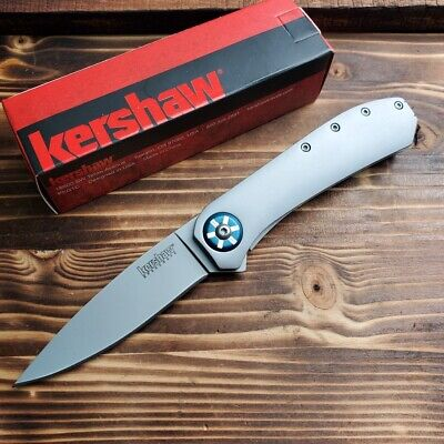 Kershaw Amplitude Assisted Open 8Cr13MoV Plain Edge Satin Tactical Knife 3871