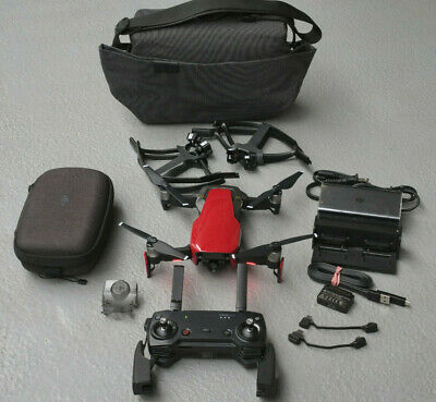DJI Mavic Air Drone with Fly More Combo parts / UAV / RPAS Kit - Red - 4JCL