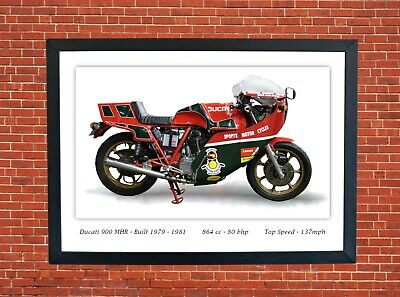 Ducati MHR 900 Motorcycle A3 Size Print Poster on Photographic Paper