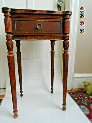 Rare Early Mid Century Nightstand Table