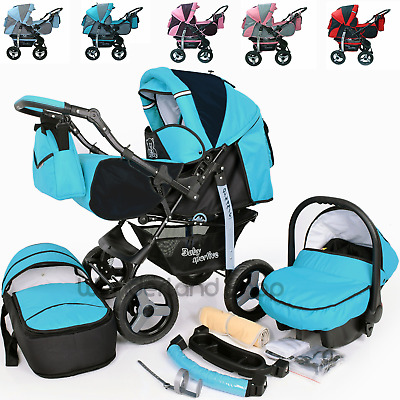 Baby Pushchair Pram Stroller Car Seat Carrycot Travel System Buggy+ FREEBIES UK