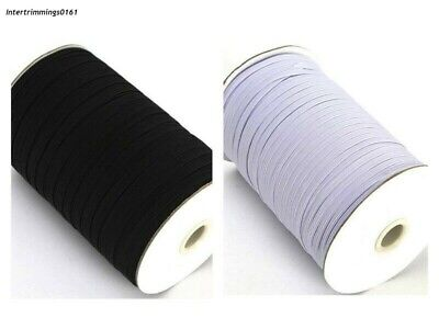 Elastic 4 Cord Flat, 3Mm  In Black & White, 164 Metres Ideal For Masks, Free P&P