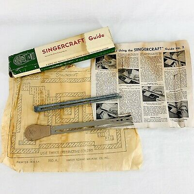 Vintage Singer Singercraft Guide No. 120987 121079 For Making Rugs Made in USA