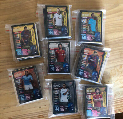 Match Attax 2019/20 19/20 Champions League Bundle 45 Cards + 1 Limited Edition
