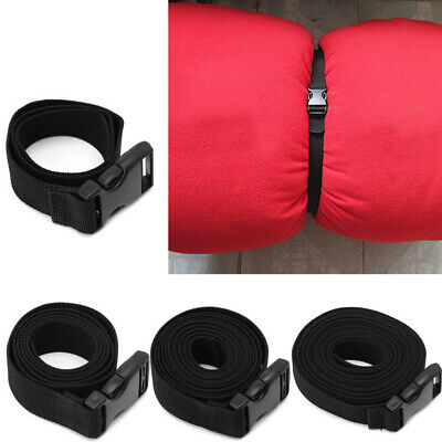 1Pc Travel Luggage Bag Strap Belt with Buckle Suitcase Attachment Black Color
